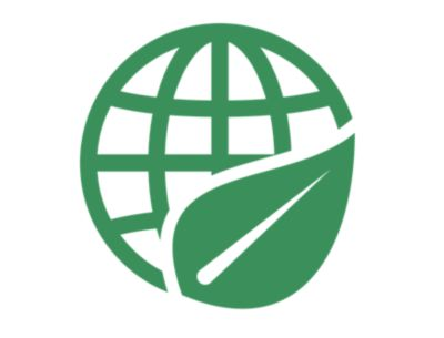 Illustrated green icon of a sustainability unit with the words Sustainability