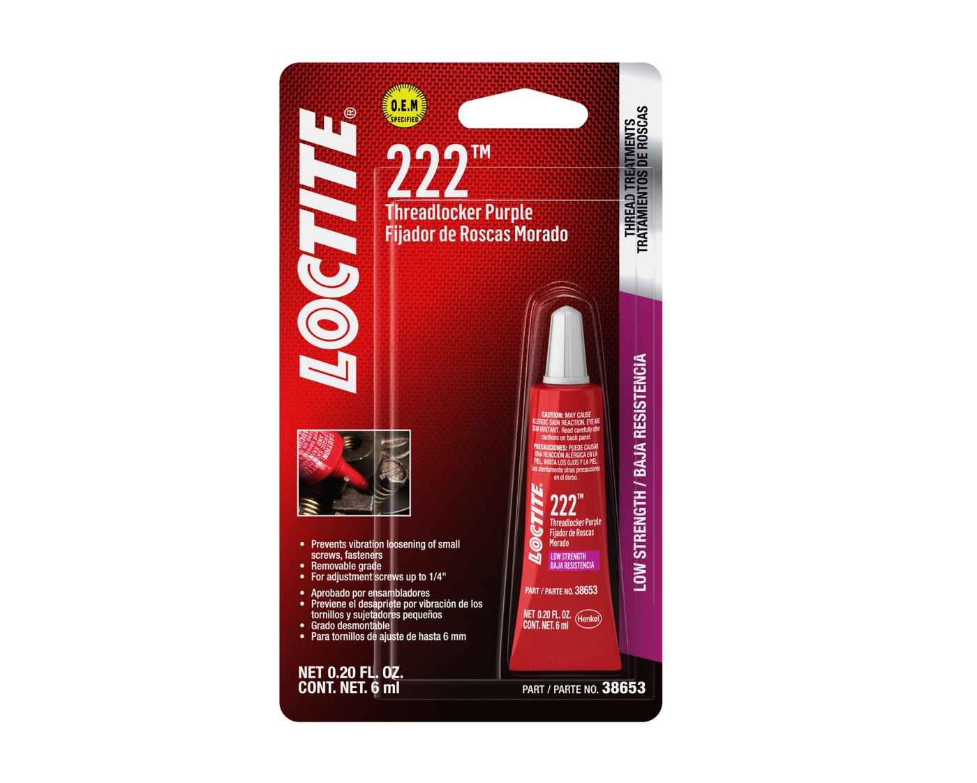 Loctite 222 package