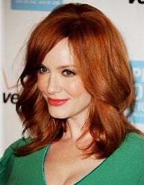 Les cheveux roux de Christina Hendricks