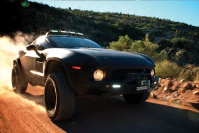 offroad vehicle on dirt road