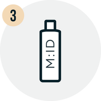 vector graphic representing one of three steps of product quiz