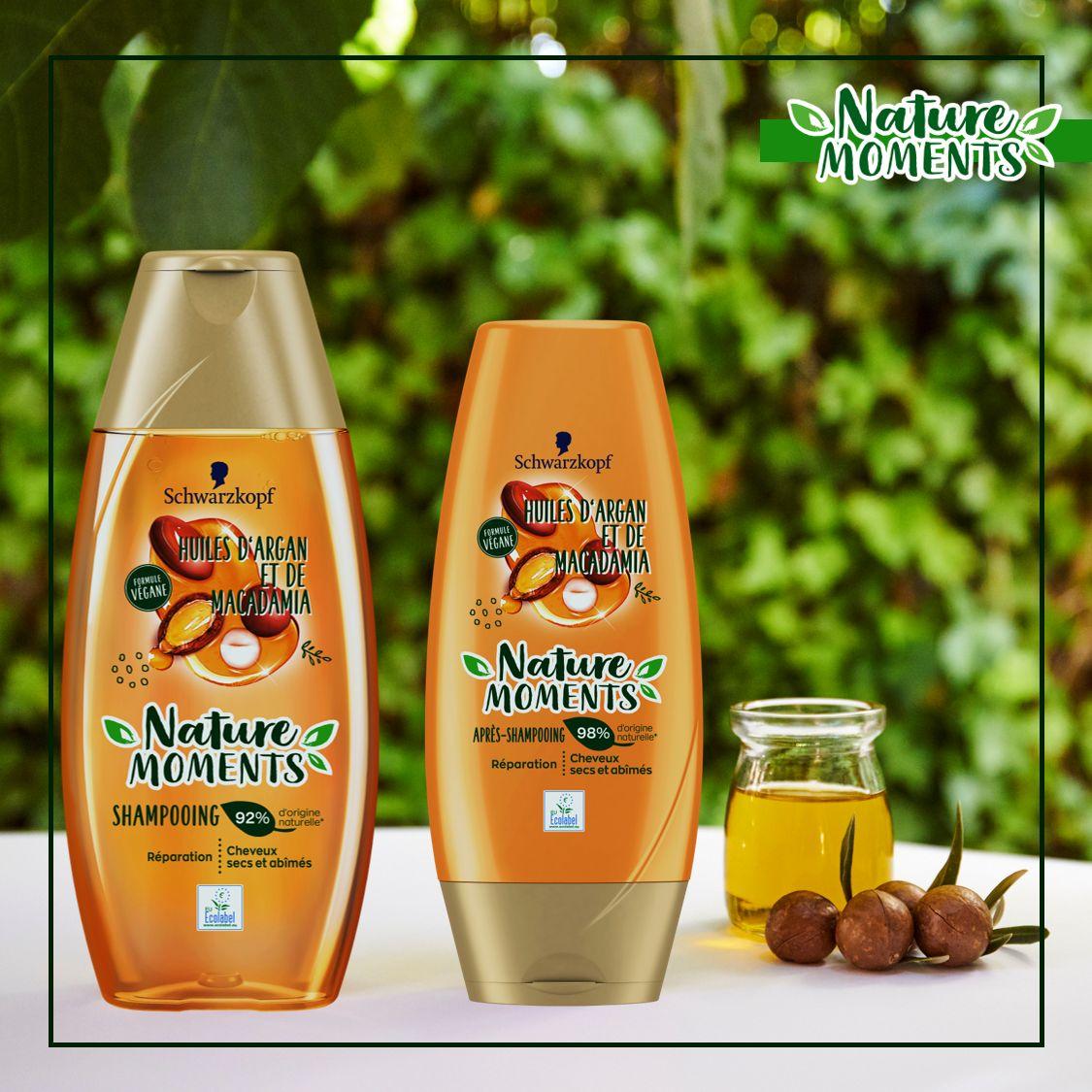 Shampooing et après-shampooing Nature Moments à l'huile d'argan et de macadamia