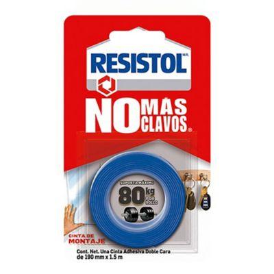 Resistol Cinta de Montaje No Más Clavos 80 kg