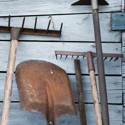garden tools with rust