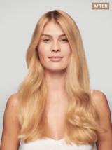 BLONDME Light Range Look Transformation Blonde Model with Long Wavy Hair