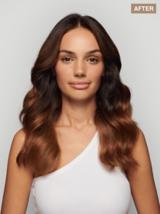 BLONDME Rich Range Look Transformation Brunette Model with Long Wavy Hair