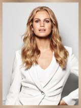 BLONDME Blonde Model in White Jacket