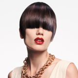 Essential Looks Royal Glory Model With Sleek Brunette Pixie Cut