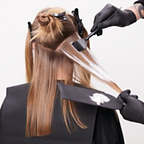 BLONDME Hollywood Model With Blonde Straight Hair Being Coloured
