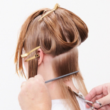 Magical Whimsy Salon Look Hair Being Cut Step 3