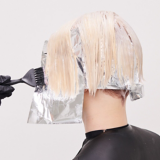 Essential Looks Once Upon A Time Model With Blonde Bob Hair Being Coloured