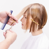 Once Upon A Time Blonde Bob Hair Being Cut Step 6
