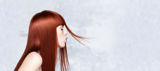 BC Bonacure Model With Long Straight Red Hair