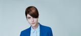 Everyday Decadence Salon Look Model with Brunette Side Parted Pixie Cut