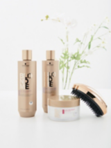 BLONDME Care All Blondes Light Shampoo And Rich Mask, Cool Blondes Neutralizing Shampoo And Palm Brush