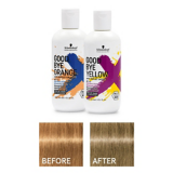 Goodbye Orange Wash With Medium Hair Tones