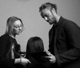 Black and White Image of Collection of Hairdressers