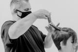 Tyler Johnston Cutting Hair