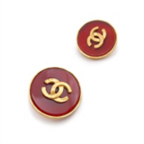 Back to Classics Inspiration Channel Red And Gold Earrings