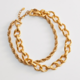 Back to Classics Inspiration Zara Two Row Gold Tone Necklace