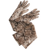Magical Whimsy Inspiration Snakeskin Elbow Length Gloves