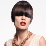 Back to Classics Model With Sleek Brunette Pageboy Cut
