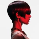 Back to Classics Model Side Profile With Sleek Brunette Pageboy Cut
