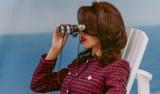 Back to Classics Model Holding Binoculars