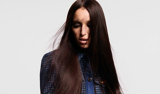 Back to Classics Model With Long Straight Brunette Hair