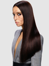 Back to Classics Model With Hair Swept Over Shoulder