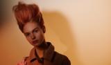 Artful Feeling Model With Auburn Beehive Hair