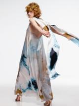 Artful Feeling Model In Tie Dyed Dress