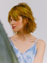 Artful Feeling Model With Blonde Straightened Hair