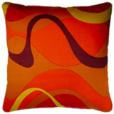 Once Upon A Time Inspiration Retro Orange, Red and Yellow Cushion