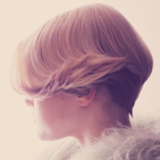 Once Upon A Time Catwalk Look Side Profile of Model With Blonde Bob