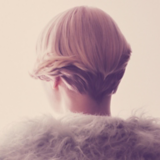 Once Upon A Time Catwalk Look Rear View Of Model With Blonde Bob