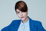 Everyday Decadence Salon Look Model with Brunette Pixie Haircut