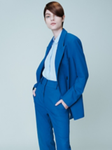 Essential Looks Everyday Decadence Salon Look Model in Blue Suit