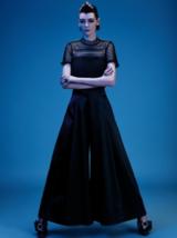 Dark Romance Model in Black Dress