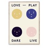 Everyday Decadence Inspiration Mado Four Feelings Poster