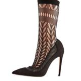 Dark Romance Inspiration Stiletto Shoe With Lace Stockings