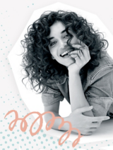 Mad About Curls Model with Coily Hair