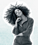 Mad About Curls Model with Curly Hair