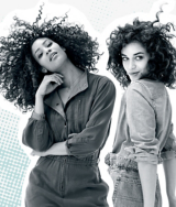 Mad About Curls Model and Mad About Curls Superfood Model