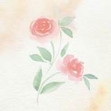 Oil Ultime Rose Oil Watercolour Painting