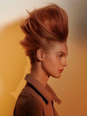 Essential Looks Artful Feeling Model With Auburn Beehive Hair