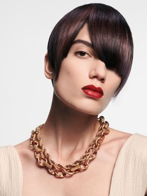 Essential Looks Back to Classics Model With Sleek Brunette Pageboy Cut