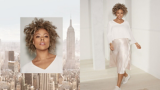 BLONDME Danielle New York Video Model With Tight Curly Brunette Hair With Blonde Highlights