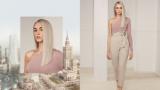 BLONDME Pamela Warsaw Video Model With Light Blonde Blunt Cut Hair
