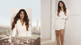 BLONDME Simren London Video Model With Long Brunette Wavy Hair With Ombre Blonde Tips
